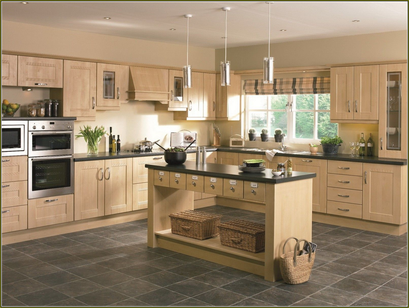Light Birch Kitchen Cabinets For the Home Pinterest