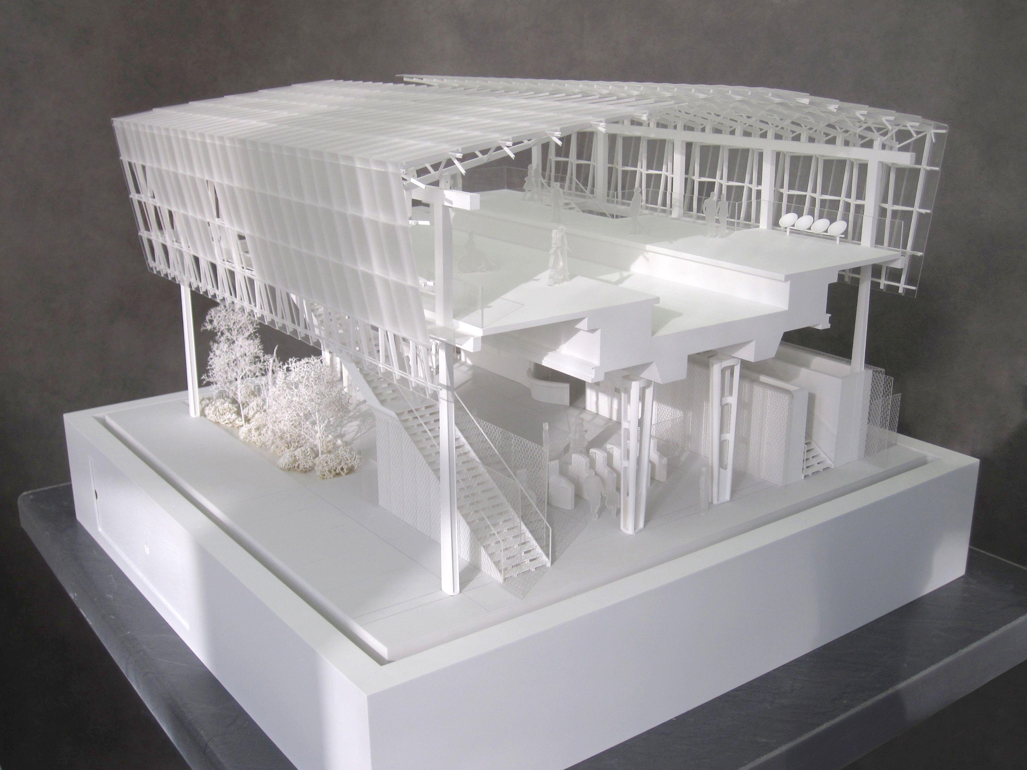 Maquette d 39 architecture de la station coteaux beauclair for Maquette d architecture