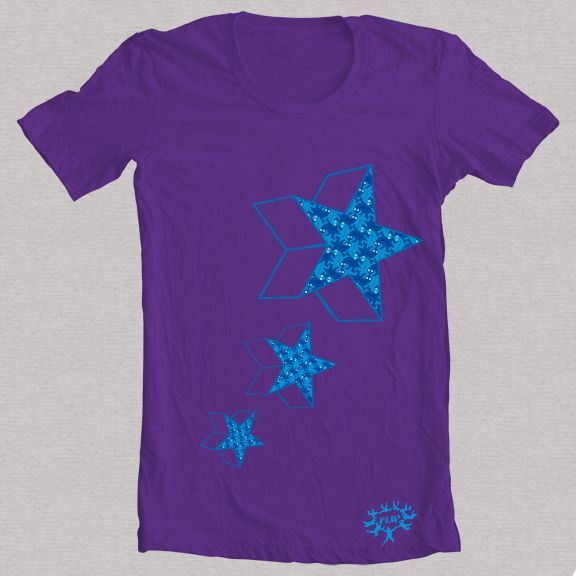 Camiseta morada estrella 2
