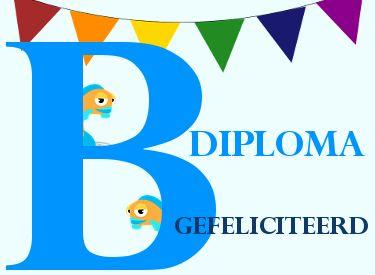 gefeliciteerd met b diploma