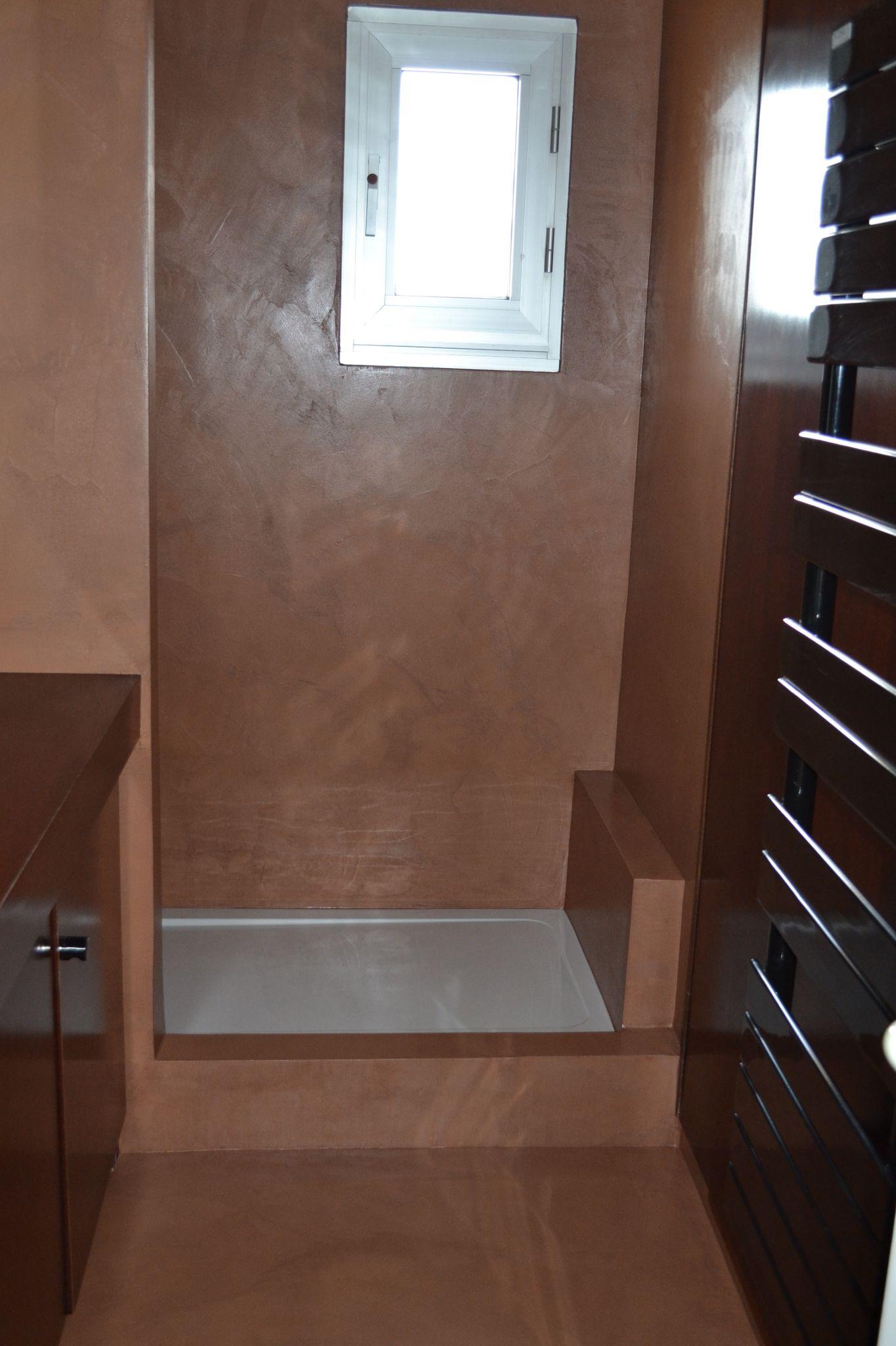 B.CC - Salle de bain en béton ciré (couleur Terre d\'argile/MA\'s) | B ...