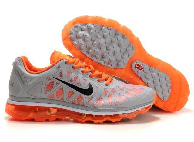 finest selection 0ad86 912a1 Nike Air Max 2011 Men s Running Shoe Orange Black Grey 429889 880