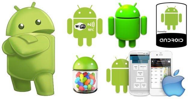 PNG Download: Pacote com 29 Imagens do mascote do SO Android em PNG com fundo transparente