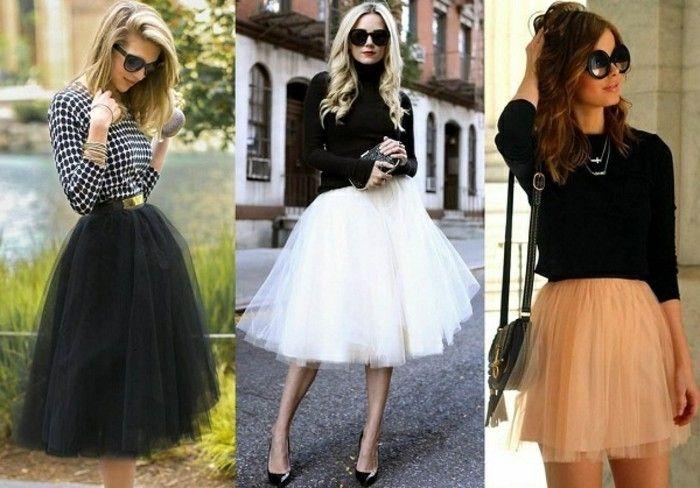 4088e194b14256 Comment porter la jupe tutu   jupe   Jupe tutu noir, Jupe tutu et ...