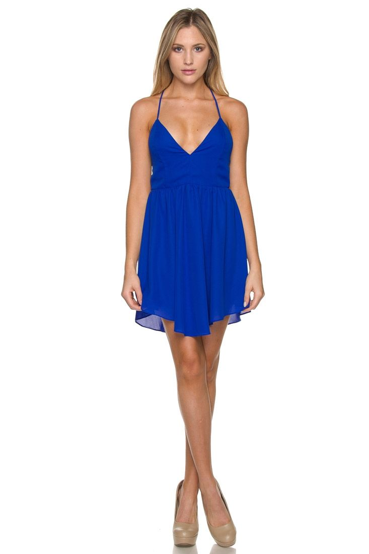 Be the life of the party in this gorgeous royal blue dress