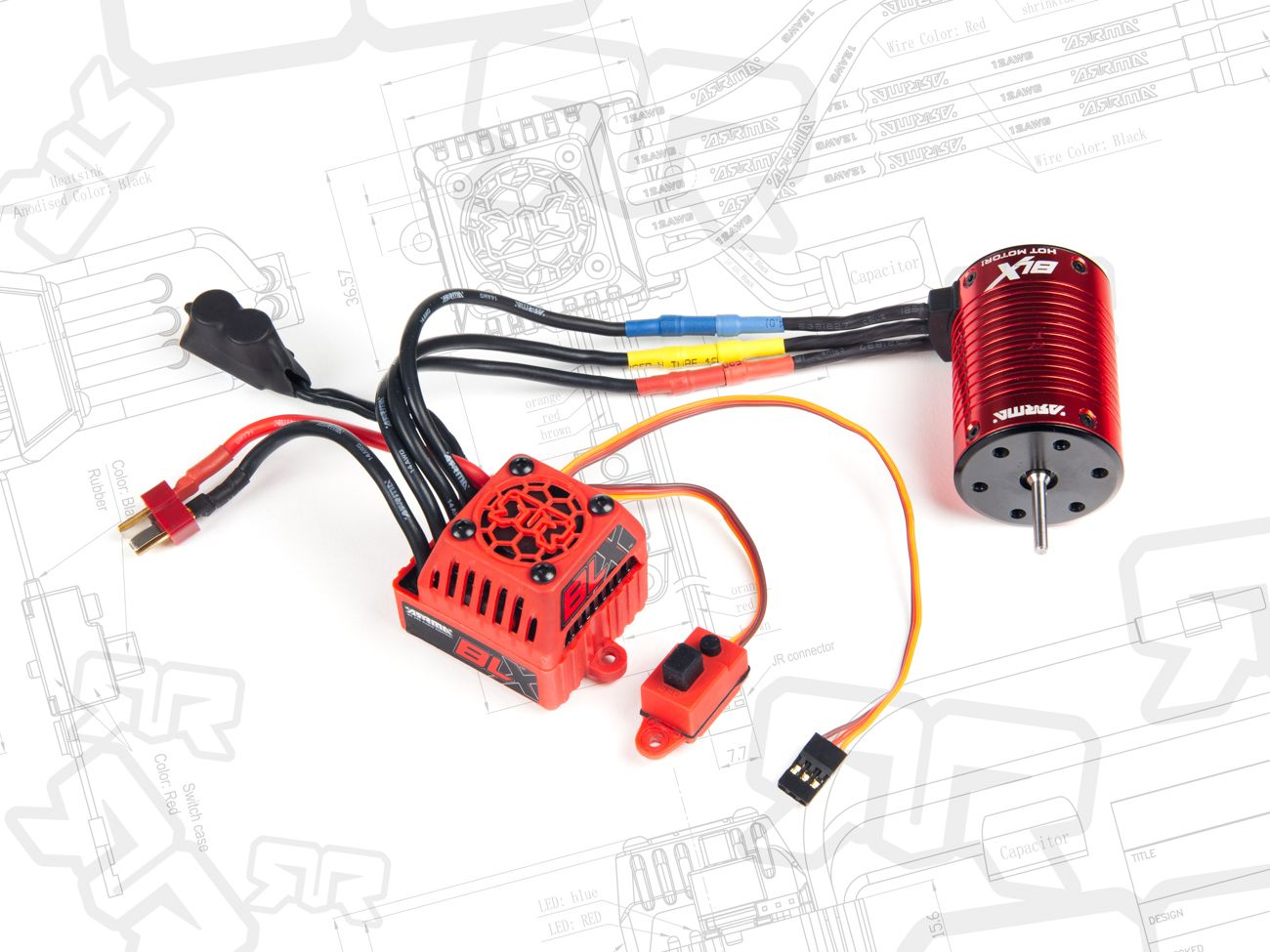 The BLX 80A brushless ESC and powerful 3600kv motor  For RC