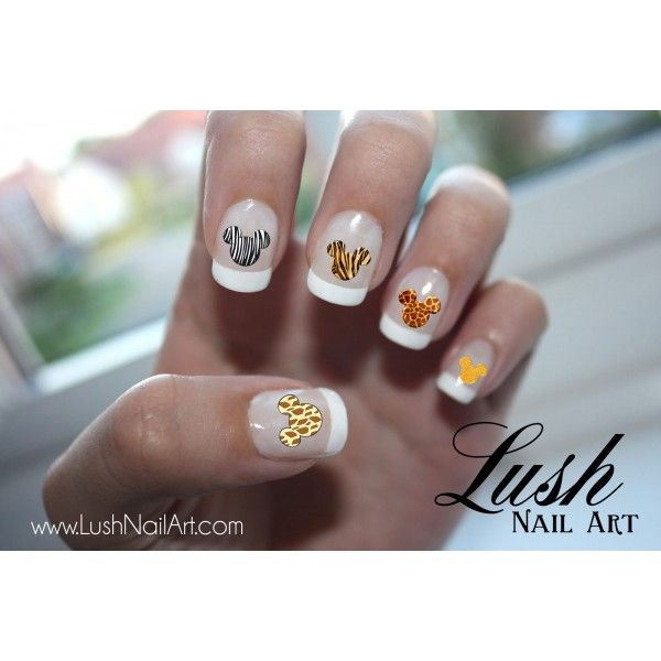 Animal Print Mickey Mouse Ears Disney Nail Art Water Transfer Decal ...