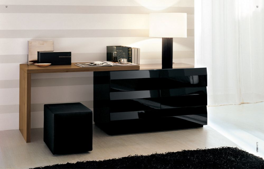 Alf Lego Custom Dresser Notte 28 Black Lacquer/Teak :: Modern Bedrooms :: ·  Bedroom ModernDressing TablesHigh ...
