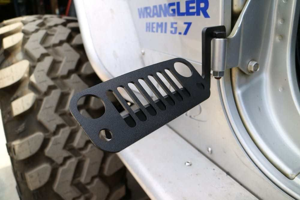 JK Wrangler Jeep Foot Pegs Black 2007 - 2018 100% Made in the USA #100% #Pegs #USA