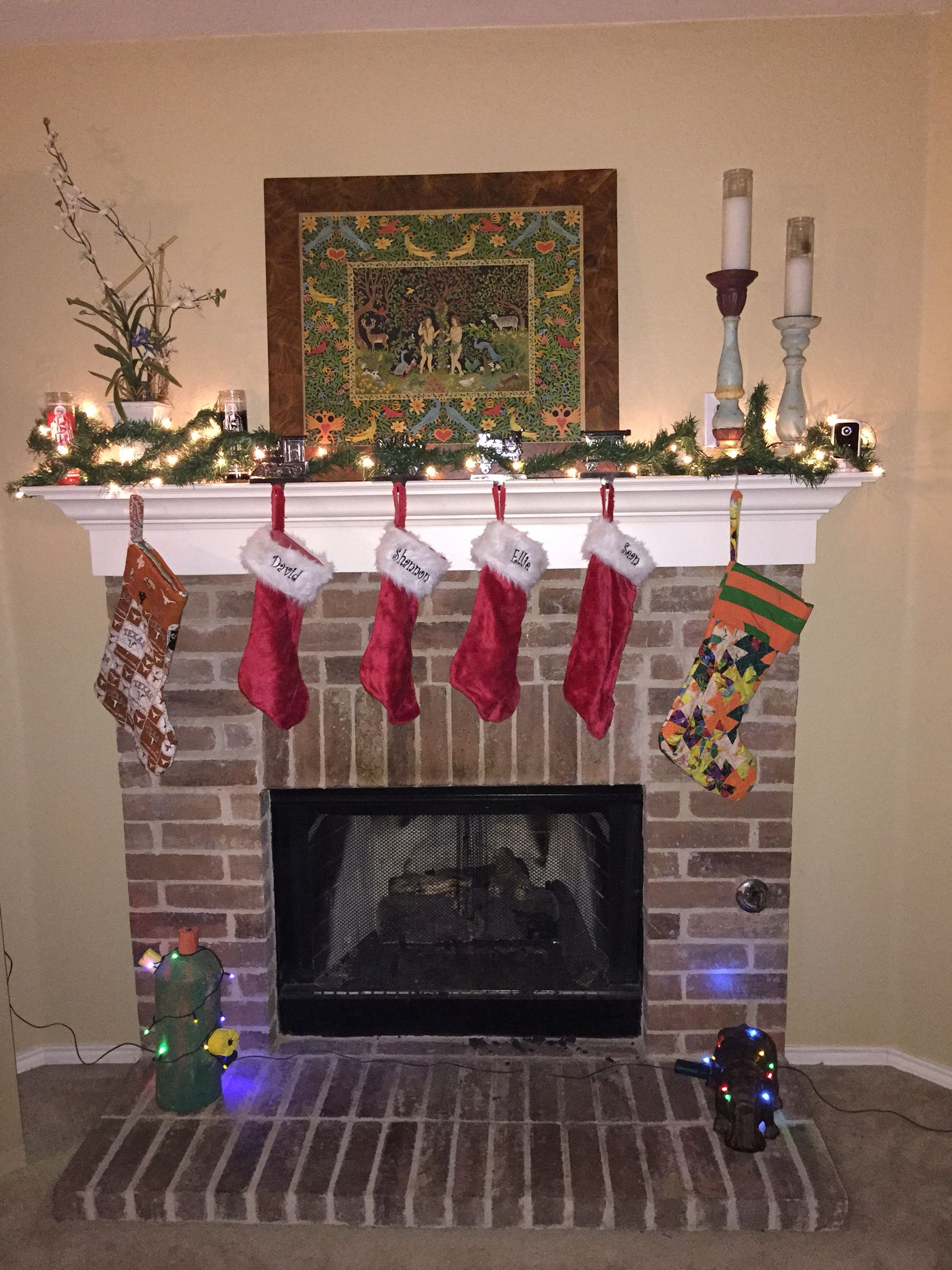 Christmas is coming. The stockings are hung with care.