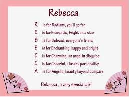 rebecca name - Google Search (With images) | Chinese words ...