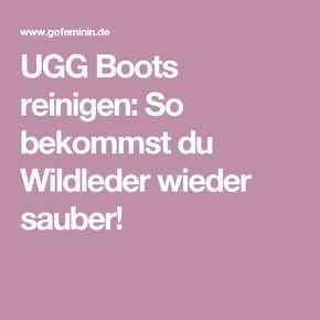 ugg boots reinigen