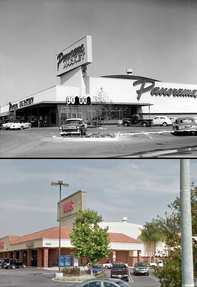 Then And Now 10321 Sepulveda Boulevard At Devonshire Street In Mission Hills In 1957 It Was The Panorama City Los Angeles Architecture Los Angeles History
