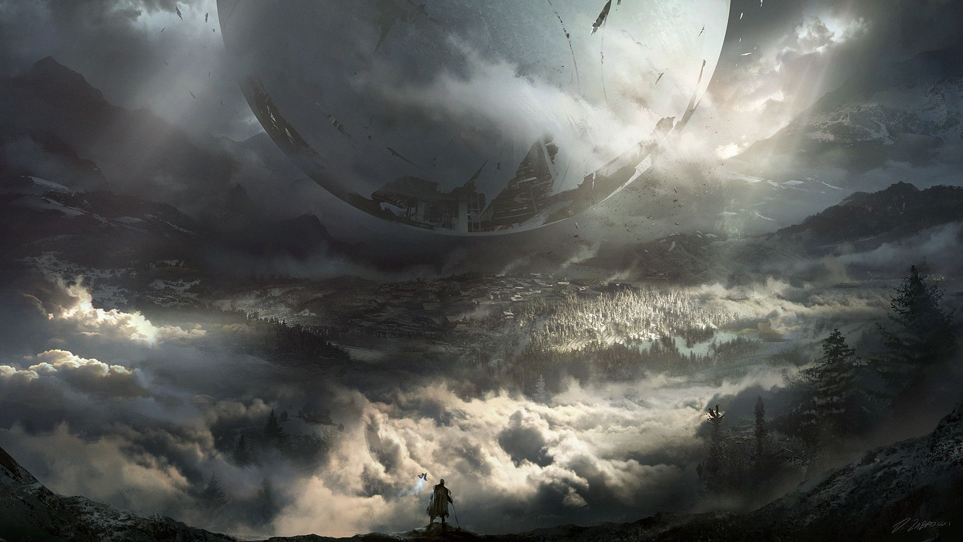 Some Of My Favorite Destiny 2 Wallpapers From The Recent Concept Art Release And The E3 Conference Space Post Concept Art World Destiny Backgrounds Concept Art