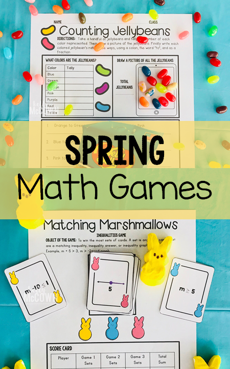 Spring Middle School Math Activities and Games. Grade 6, Grade 7 ...
