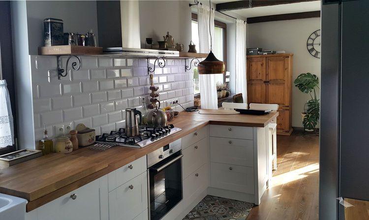 Fajna Przytulna Kuchnia Z Salonem Myhome Kuchnia Nowoczesny Modern Home Kitchens Kitchen Interior Kitchen Design