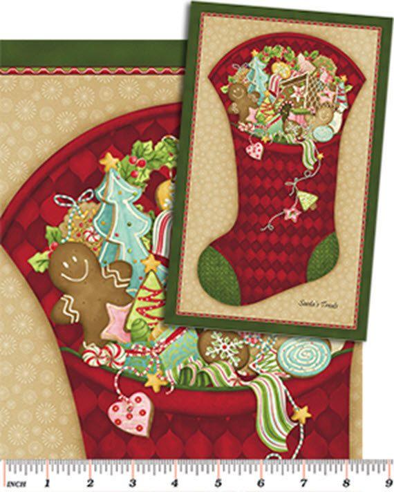 Merry Christmas Blue Fair Isle Design Christmas Stocking 27 x 14 Gift Present
