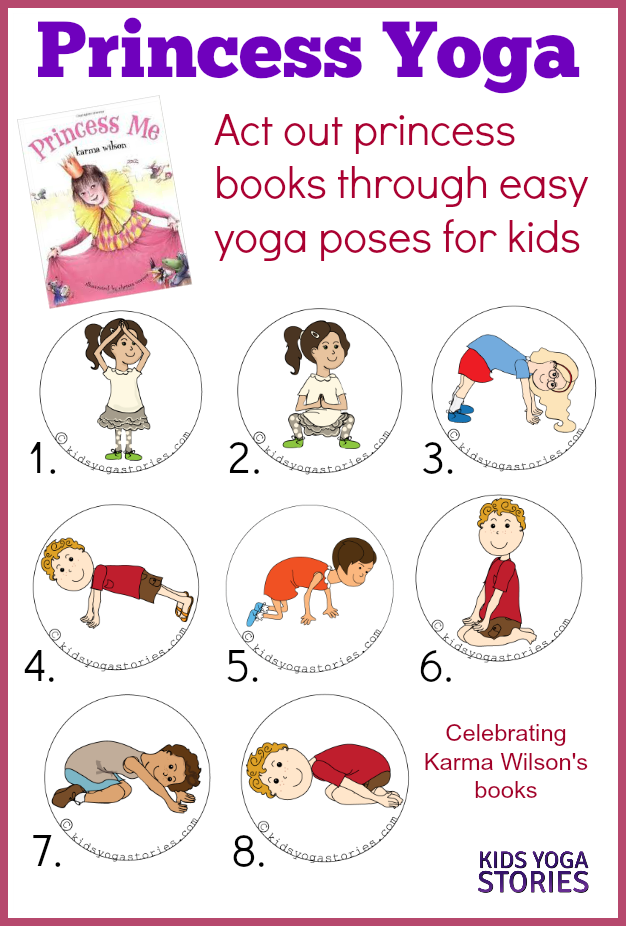 Princess Yoga Kids Yoga Stories Yoga Resources For Kids Kids Yoga Poses Yoga For Kids Yoga Story