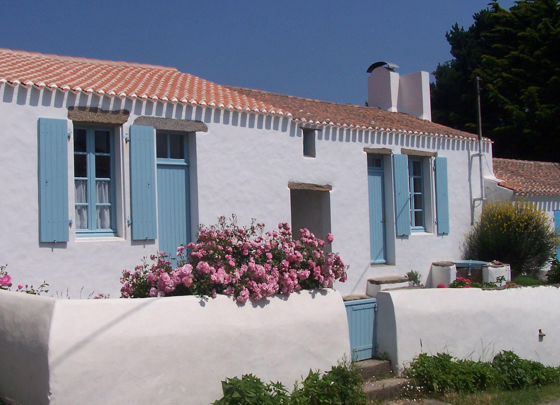 Architecture maison traditionnelle de L Žle d Yeu en Vendée