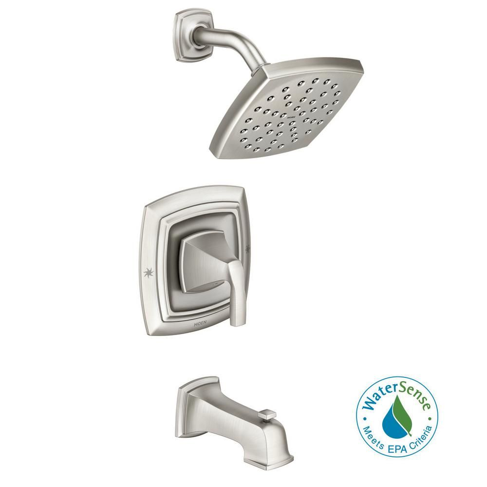 MOEN Hensley Single-Handle 1-Spray Tub and Shower Faucet in Spot ...
