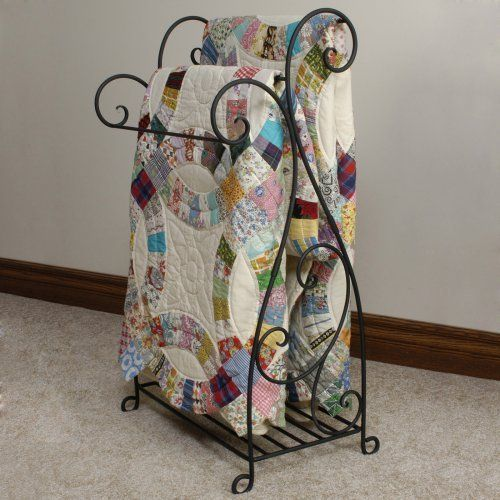 J J Wire Scrolled Wrought Iron Quilt Rack Quilt Display Racks Quilt Rack Quilt Display