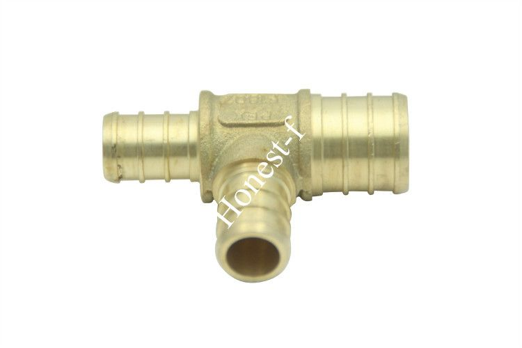 3 4 X 1 2 X 1 2 Reducing Pex Tee Brass Crimp Pex Fitting Fittings Crimps Brass