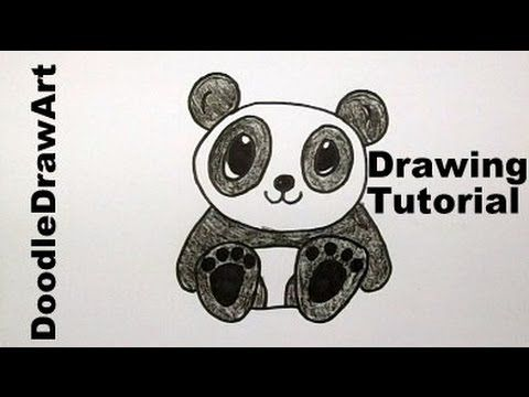 How To Draw A Baby Panda Bear Cartoon - Easy Drawing ...