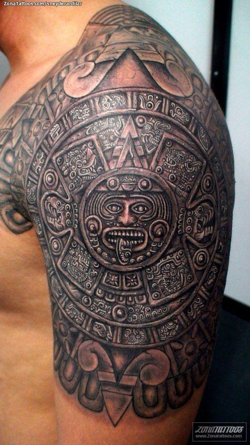 Aztec Calendar Mayan Tattoos Aztec Tattoo Designs Aztec Tattoo