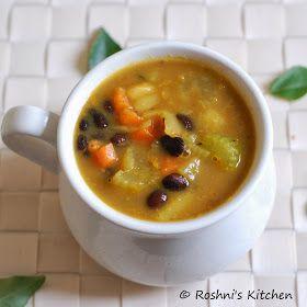 Roshni's Kitchen: Vegan Black Bean and Vegetable Soup