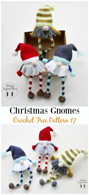 Christmas Gnomes Amigurumi Crochet Free Pattern - Free#Amigurumi ...
