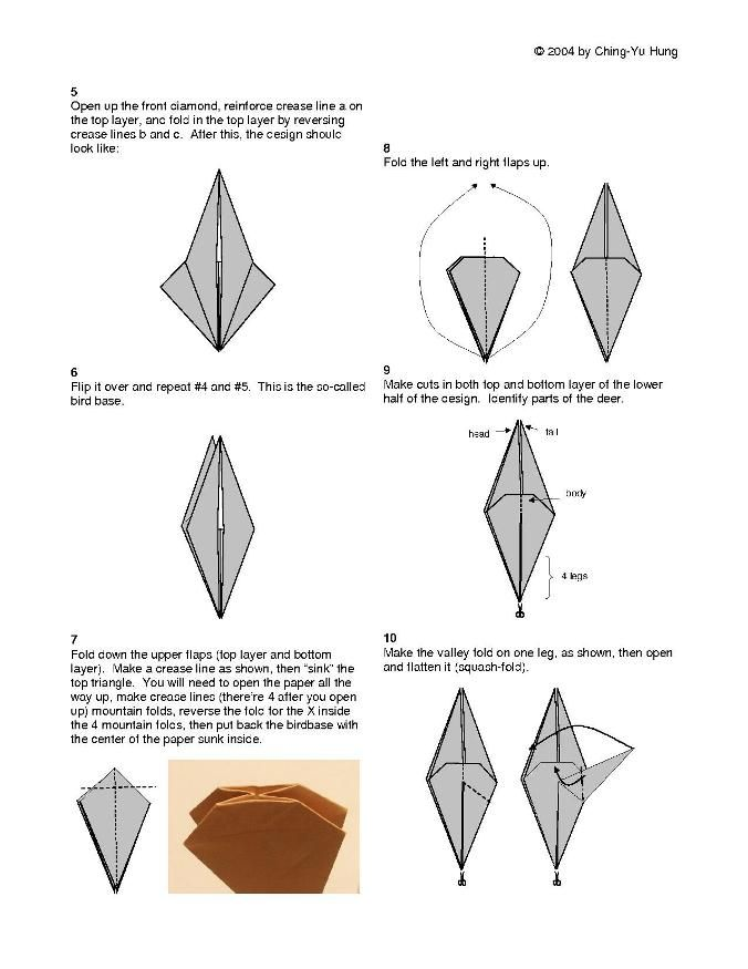 f64b9213e16b7ddd9f367553cd514ea4 origami diagram of the reindeer 胸きゅん作品❤ pinterest