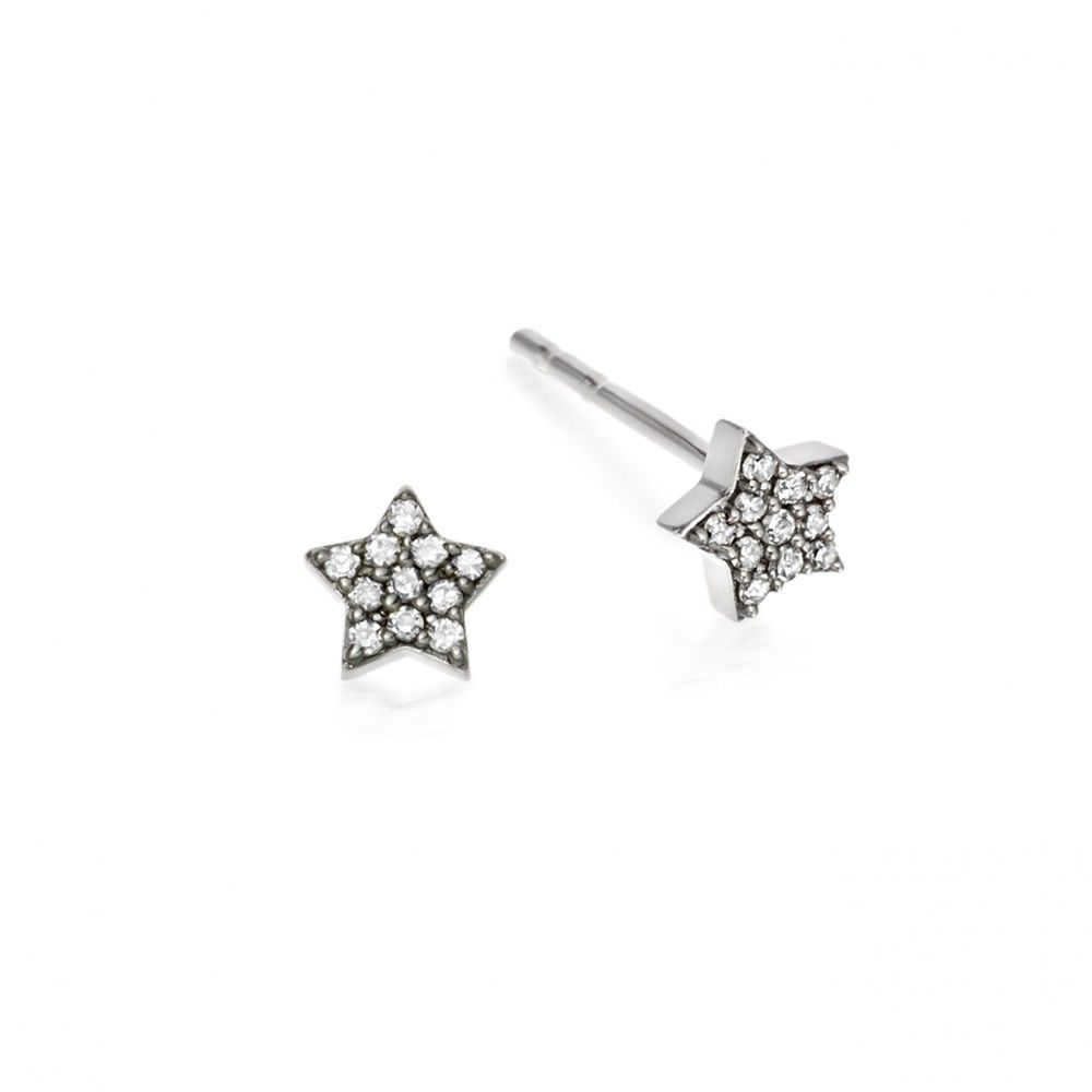 8ca2e6fc8 White Gold Tiny Light Stud Earrings Diamond Studs, White Gold, Jewelry  Watches, Diamond