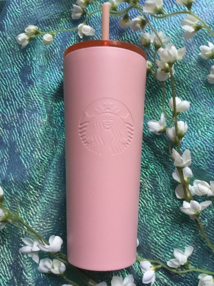 New 2018 Starbucks Cup Pink Tumbler Cold To Go Matte