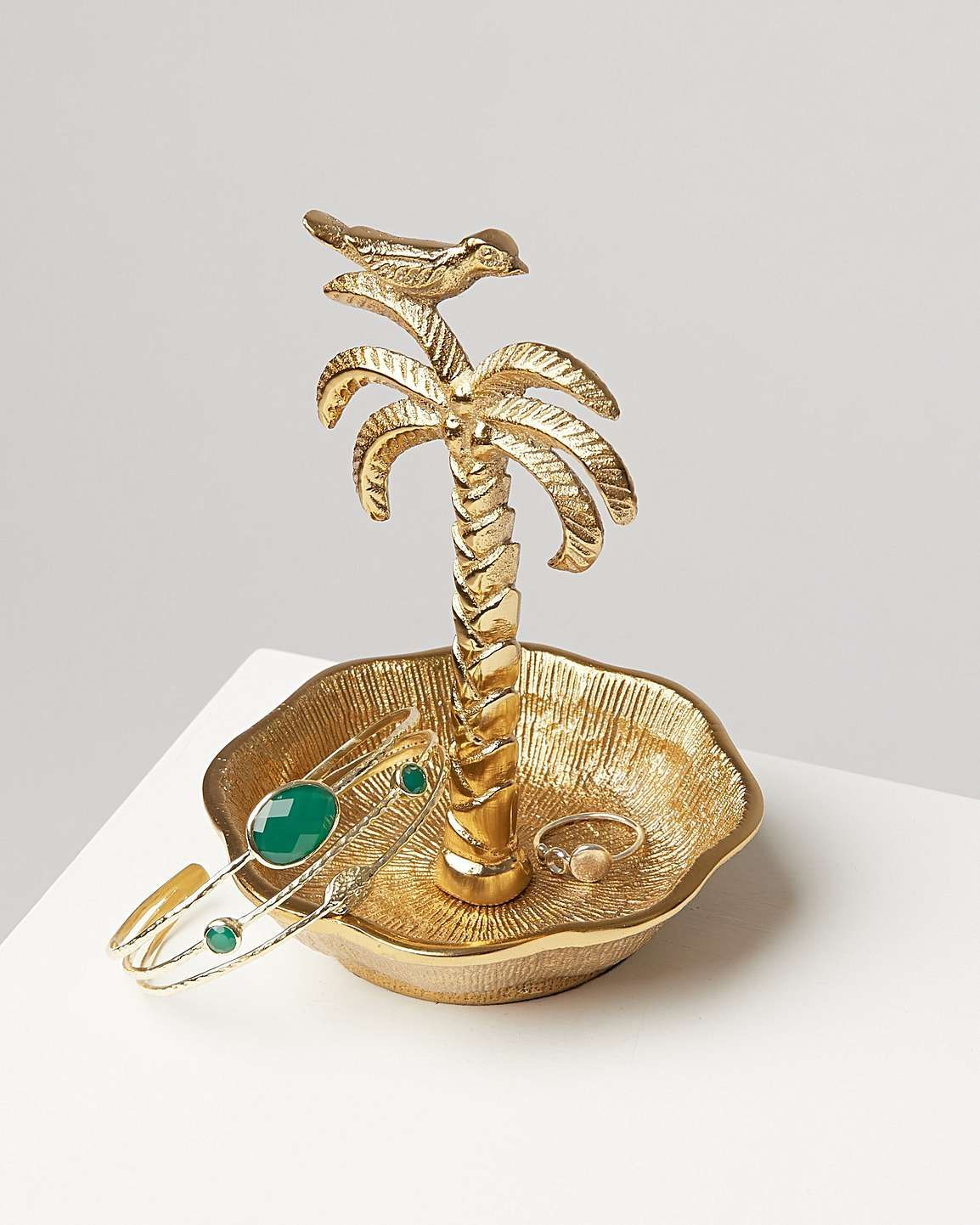 Mini Palm Tree Gold Ring Holder In 2020 Mini Palm Tree Ring Holder Gold Rings