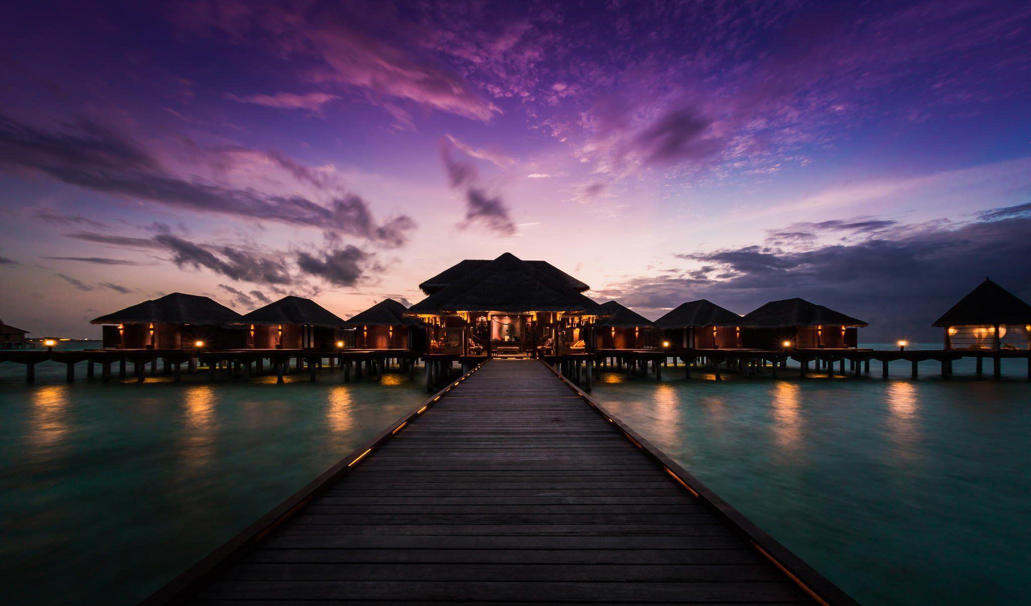 Maldives Night Wallpapers Widescreen Bozhuwallpaper