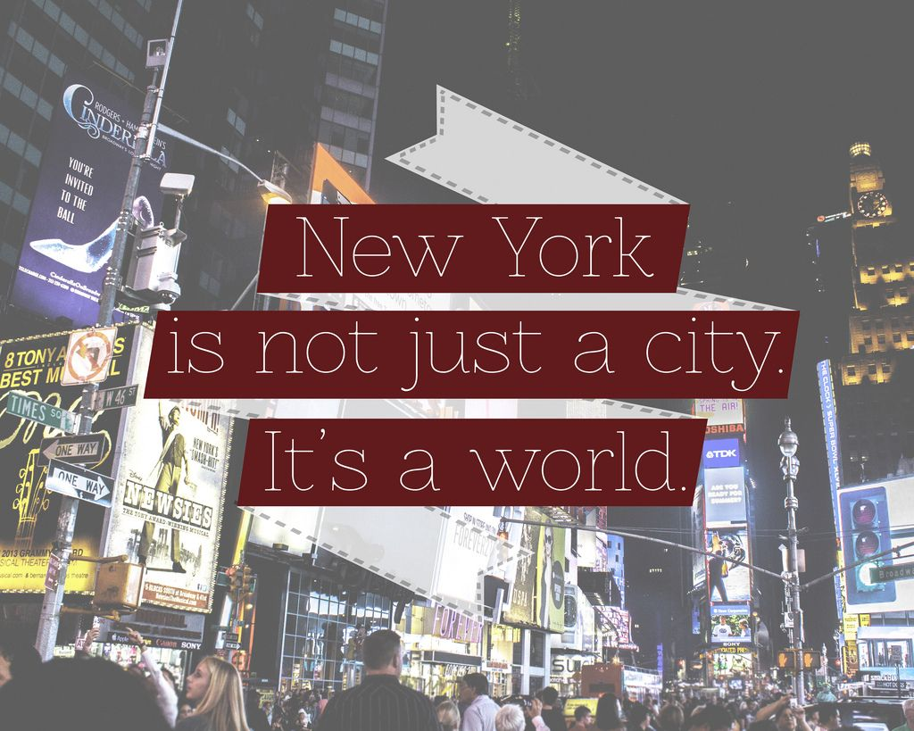 brittnee designs new york city times square banner quote