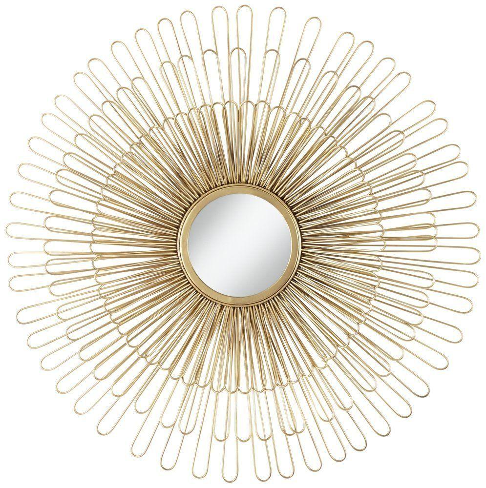 Wire Capiz Sunburst Wall Mirror - Amazon com cibola gold 32 round sunburst wall mirror home kitchen