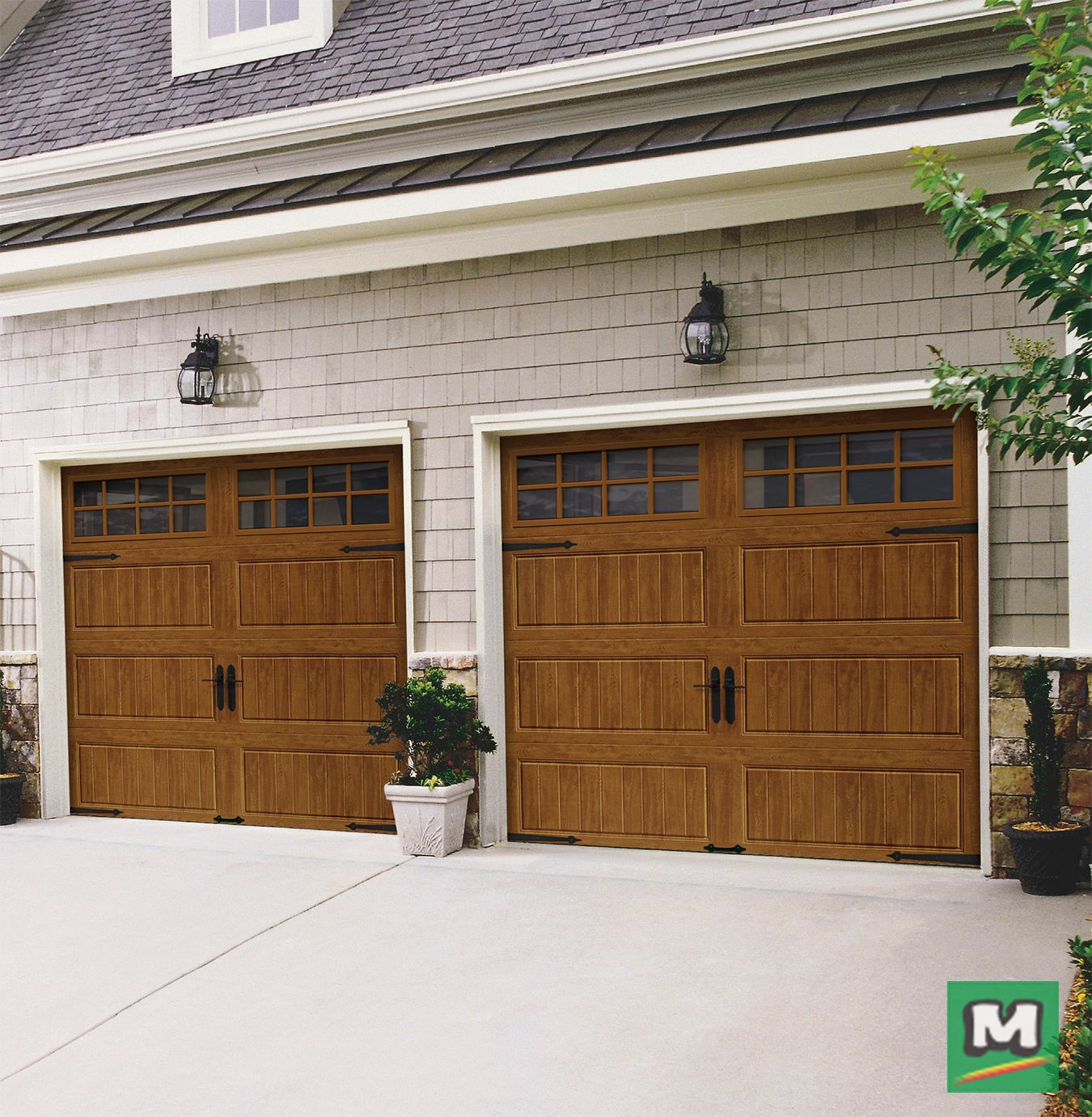 These Garage Doors From Ideal Door Offer Superior Insulation With A 3 Layer Design They Are Constructed With Garage Doors Garage Door Design Garage Exterior