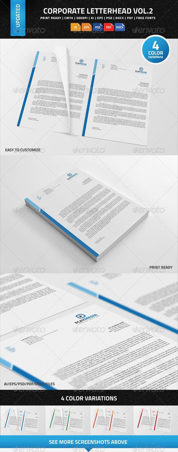 Download  Corporate Letterhead PsdAiEpsPdf