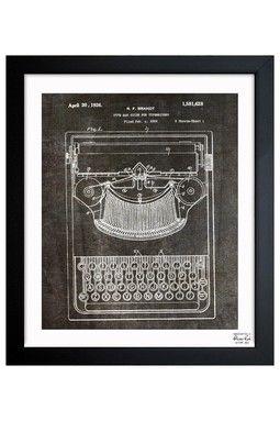 Brandt Type Bak Guide For Typewriters 1926 Framed Art Print