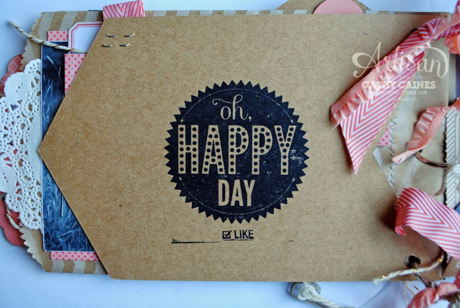 CELEBRATION BANNER MINI ALBUM | AWW by Cathy Caines @Coral Hinz' Up!