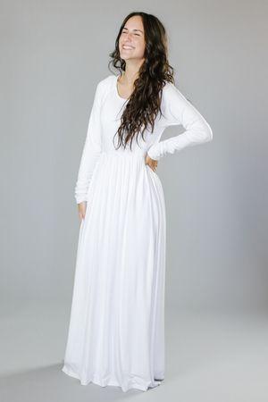 Plus Size White Lds Temple Dresses Best Dresses 2018