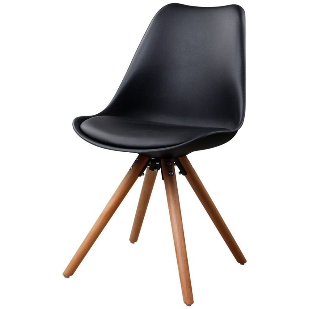 Unique Shape Armless Dining Room Chairs Natural Wooden Legs Molded Seat  Chair NO.AG2 Leo