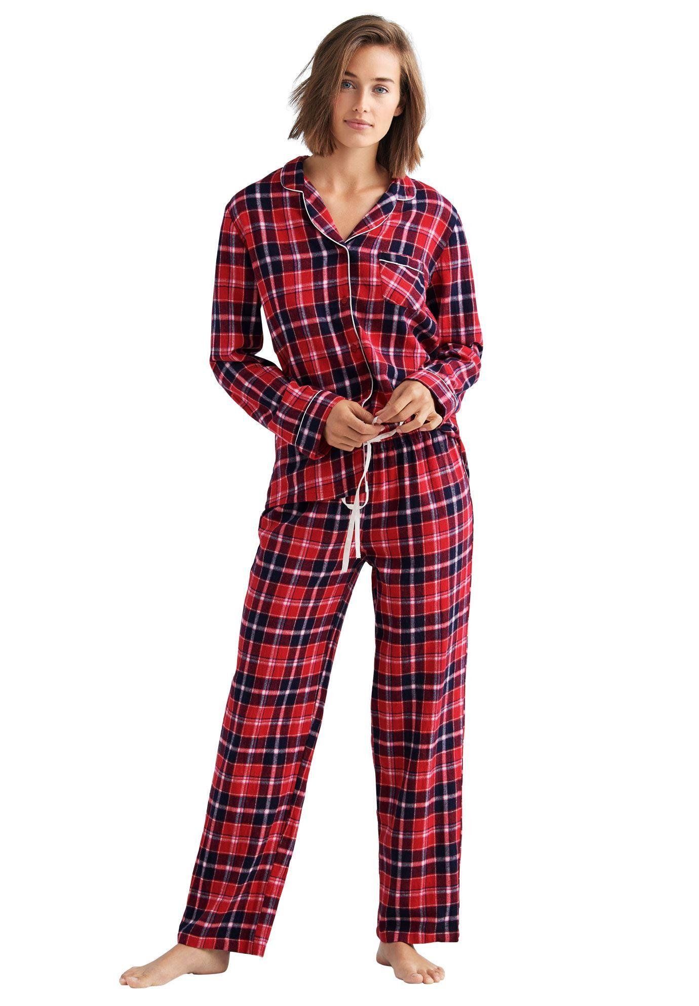 Plaid Flannel Pajama Set by ellos Women's Plus Size