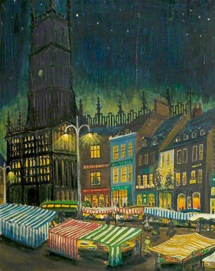 Christmas Market At Cirencester By Nelson Rooke With Images Cirencester Cityscape Art Art Uk
