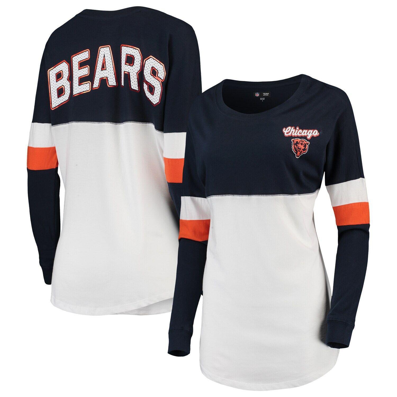 Women's New Era Navy/White Chicago Bears Athletic Varsity