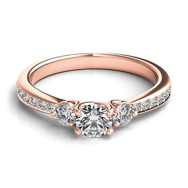 helzberg diamond masterpiece 58 ct tw diamond engagement ring in 18k rose gold - Helzberg Wedding Rings