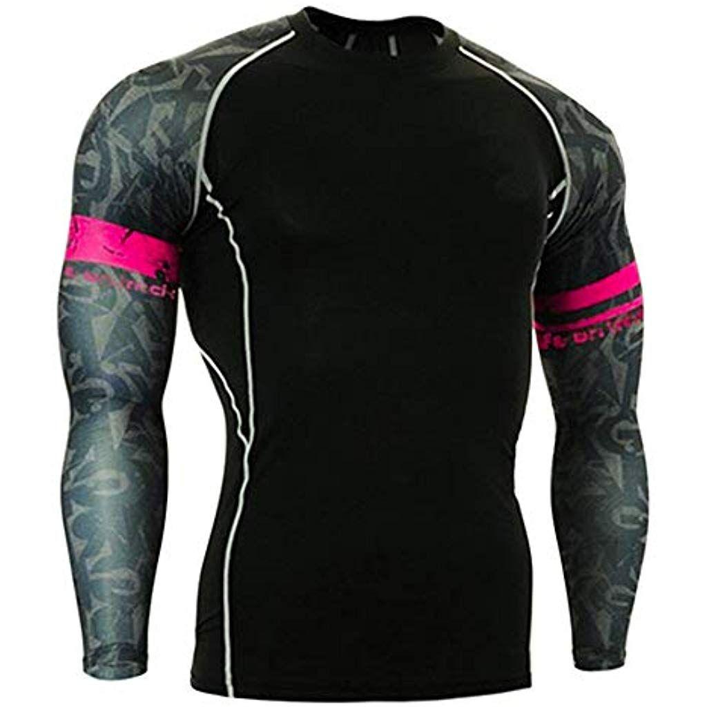 Sports Hommes T-shirts Compression Costume Quick Dry vêtements jerseys pour le cyclisme Tops