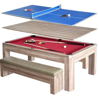 Newport 7 Foot Pool Table Combo Set With Benches Ideas