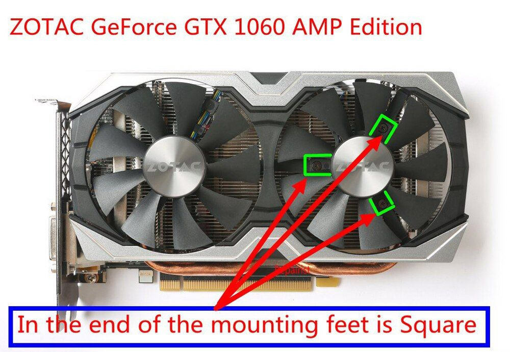 2pcs Set 85mm Ga91s2h Gpu Vga Cooler Fan For Zotac Geforce Gtx1060